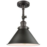 Innovations Lighting 201F-OB-M11-LED Briarcliff LED 10 inch Oil Rubbed Bronze Semi-Flush Mount Ceiling Light