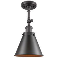 Innovations Lighting 201F-OB-M13-OB-LED Appalachian LED 8 inch Oil Rubbed Bronze Semi-Flush Mount Ceiling Light Franklin Restoration