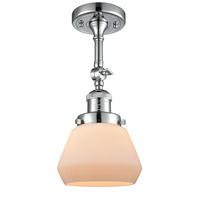 Innovations Lighting 201F-PC-G171-LED Fulton LED 7 inch Polished Chrome Semi-Flush Mount Ceiling Light