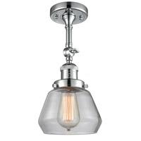 Innovations Lighting 201F-PC-G172-LED Fulton LED 7 inch Polished Chrome Semi-Flush Mount Ceiling Light