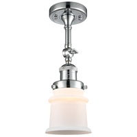 Innovations Lighting 201F-PC-G181S-LED Small Canton LED 6 inch Polished Chrome Semi-Flush Mount Ceiling Light Franklin Restoration