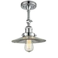 Innovations Lighting 201F-PC-G2-LED Halophane LED 9 inch Polished Chrome Semi-Flush Mount Ceiling Light