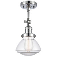 Innovations Lighting 201F-PC-G322-LED Olean LED 7 inch Polished Chrome Semi-Flush Mount Ceiling Light Franklin Restoration