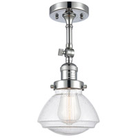 Innovations Lighting 201F-PC-G324-LED Olean LED 7 inch Polished Chrome Semi-Flush Mount Ceiling Light Franklin Restoration