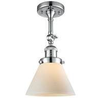 Innovations Lighting 201F-PC-G41-LED Large Cone LED 8 inch Polished Chrome Semi-Flush Mount Ceiling Light