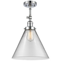 Innovations Lighting 201F-PC-G42-L-LED X-Large Cone LED 12 inch Polished Chrome Semi-Flush Mount Ceiling Light Franklin Restoration