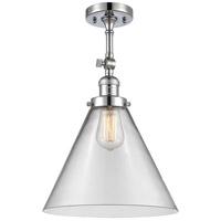 Innovations Lighting 201F-PC-G42-L-LED X-Large Cone LED 12 inch Polished Chrome Semi-Flush Mount Ceiling Light Franklin Restoration