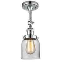 Innovations Lighting 201F-PC-G52-LED Small Bell LED 5 inch Polished Chrome Semi-Flush Mount Ceiling Light