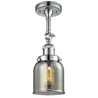 Innovations Lighting 201F-PC-G53-LED Small Bell LED 5 inch Polished Chrome Semi-Flush Mount Ceiling Light