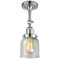 Innovations Lighting 201F-PC-G54-LED Small Bell LED 5 inch Polished Chrome Semi-Flush Mount Ceiling Light