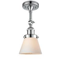 Innovations Lighting 201F-PC-G61-LED Small Cone LED 6 inch Polished Chrome Semi-Flush Mount Ceiling Light