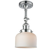 Innovations Lighting 201F-PC-G71-LED Large Bell LED 8 inch Polished Chrome Semi-Flush Mount Ceiling Light