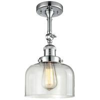 Innovations Lighting 201F-PC-G72-LED Large Bell LED 8 inch Polished Chrome Semi-Flush Mount Ceiling Light