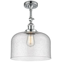 Innovations Lighting 201F-PC-G74-L-LED X-Large Bell LED 12 inch Polished Chrome Semi-Flush Mount Ceiling Light Franklin Restoration