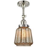 Innovations Lighting 201F-PN-G146-LED Chatham LED 6 inch Polished Nickel Semi-Flush Mount Ceiling Light Franklin Restoration