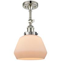 Innovations Lighting 201F-PN-G171-LED Fulton LED 7 inch Polished Nickel Semi-Flush Mount Ceiling Light
