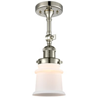 Innovations Lighting 201F-PN-G181S Small Canton 1 Light 6 inch Polished Nickel Semi-Flush Mount Ceiling Light Franklin Restoration