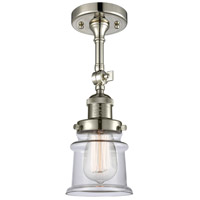 Innovations Lighting 201F-PN-G182S Small Canton 1 Light 6 inch Polished Nickel Semi-Flush Mount Ceiling Light Franklin Restoration