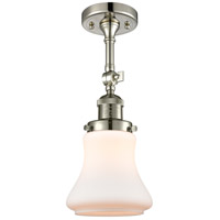Innovations Lighting 201F-PN-G191-LED Bellmont LED 6 inch Polished Nickel Semi-Flush Mount Ceiling Light Franklin Restoration