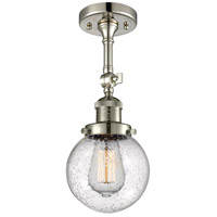 Innovations Lighting 201F-PN-G204-6 Beacon 1 Light 6 inch Polished Nickel Semi-Flush Mount Ceiling Light Franklin Restoration