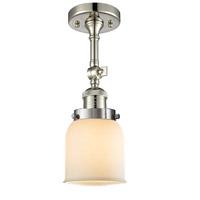 Innovations Lighting 201F-PN-G51-LED Small Bell LED 5 inch Polished Nickel Semi-Flush Mount Ceiling Light