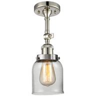 Innovations Lighting 201F-PN-G52-LED Small Bell LED 5 inch Polished Nickel Semi-Flush Mount Ceiling Light