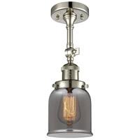 Innovations Lighting 201F-PN-G53 Small Bell 1 Light 5 inch Polished Nickel Semi-Flush Mount Ceiling Light Franklin Restoration