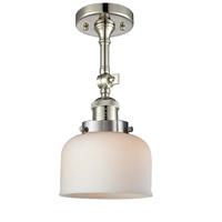 Innovations Lighting 201F-PN-G71-LED Large Bell LED 8 inch Polished Nickel Semi-Flush Mount Ceiling Light
