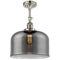 Innovations Lighting 201F-PN-G73-L-LED X-Large Bell LED 12 inch Polished Nickel Semi-Flush Mount Ceiling Light Franklin Restoration