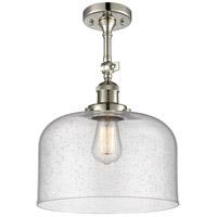 Innovations Lighting 201F-PN-G74-L-LED X-Large Bell LED 12 inch Polished Nickel Semi-Flush Mount Ceiling Light Franklin Restoration