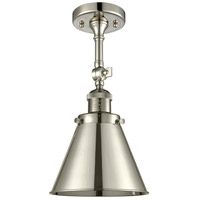 Innovations Lighting 201F-PN-M13-PN Appalachian 1 Light 8 inch Polished Nickel Semi-Flush Mount Ceiling Light Franklin Restoration