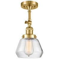 Innovations Lighting 201F-SG-G172 Fulton 1 Light 7 inch Satin Gold Semi-Flush Mount Ceiling Light Franklin Restoration