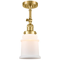 Innovations Lighting 201F-SG-G181-LED Canton LED 6 inch Satin Gold Semi-Flush Mount Ceiling Light Franklin Restoration