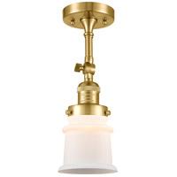 Innovations Lighting 201F-SG-G181S-LED Small Canton LED 6 inch Satin Gold Semi-Flush Mount Ceiling Light
