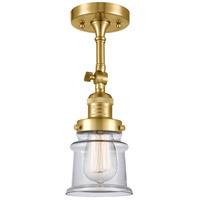 Innovations Lighting 201F-SG-G182S-LED Small Canton LED 6 inch Satin Gold Semi-Flush Mount Ceiling Light