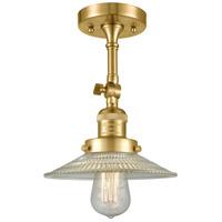 Innovations Lighting 201F-SG-G2-LED Halophane LED 9 inch Satin Gold Semi-Flush Mount Ceiling Light Franklin Restoration