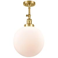 Innovations Lighting 201F-SG-G201-12 XX-Large Beacon 1 Light 12 inch Satin Gold Semi-Flush Mount Ceiling Light Franklin Restoration