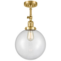 Innovations Lighting 201F-SG-G202-10 X-Large Beacon 1 Light 10 inch Satin Gold Semi-Flush Mount Ceiling Light Franklin Restoration