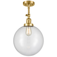 Innovations Lighting 201F-SG-G202-12 XX-Large Beacon 1 Light 12 inch Satin Gold Semi-Flush Mount Ceiling Light Franklin Restoration