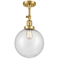Innovations Lighting 201F-SG-G204-10 X-Large Beacon 1 Light 10 inch Satin Gold Semi-Flush Mount Ceiling Light Franklin Restoration