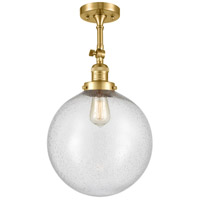 Innovations Lighting 201F-SG-G204-12 XX-Large Beacon 1 Light 12 inch Satin Gold Semi-Flush Mount Ceiling Light Franklin Restoration