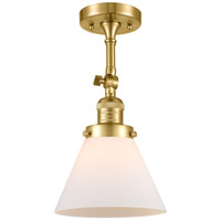 Innovations Lighting 201F-SG-G41 Large Cone 1 Light 8 inch Satin Gold Semi-Flush Mount Ceiling Light Franklin Restoration