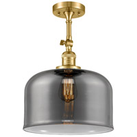 Innovations Lighting 201F-SG-G73-L X-Large Bell 1 Light 12 inch Satin Gold Semi-Flush Mount Ceiling Light Franklin Restoration