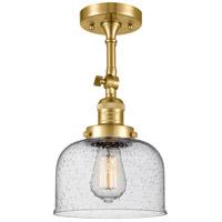 Innovations Lighting 201F-SG-G74 Large Bell 1 Light 8 inch Satin Gold Semi-Flush Mount Ceiling Light