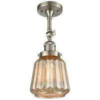 Innovations Lighting 201F-SN-G146-LED Chatham LED 6 inch Satin Nickel Semi-Flush Mount Ceiling Light Franklin Restoration