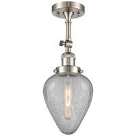 Innovations Lighting 201F-SN-G165-LED Geneseo LED 7 inch Brushed Satin Nickel Semi-Flush Mount Ceiling Light Franklin Restoration