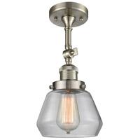 Innovations Lighting 201F-SN-G172-LED Fulton LED 7 inch Brushed Satin Nickel Semi-Flush Mount Ceiling Light Franklin Restoration