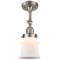 Innovations Lighting 201F-SN-G181S-LED Small Canton LED 6 inch Brushed Satin Nickel Semi-Flush Mount Ceiling Light Franklin Restoration