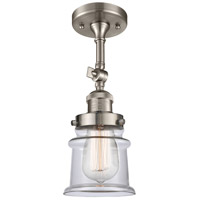 Innovations Lighting 201F-SN-G182S-LED Small Canton LED 6 inch Brushed Satin Nickel Semi-Flush Mount Ceiling Light Franklin Restoration