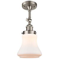 Innovations Lighting 201F-SN-G191-LED Bellmont LED 6 inch Satin Nickel Semi-Flush Mount Ceiling Light, Franklin Restoration